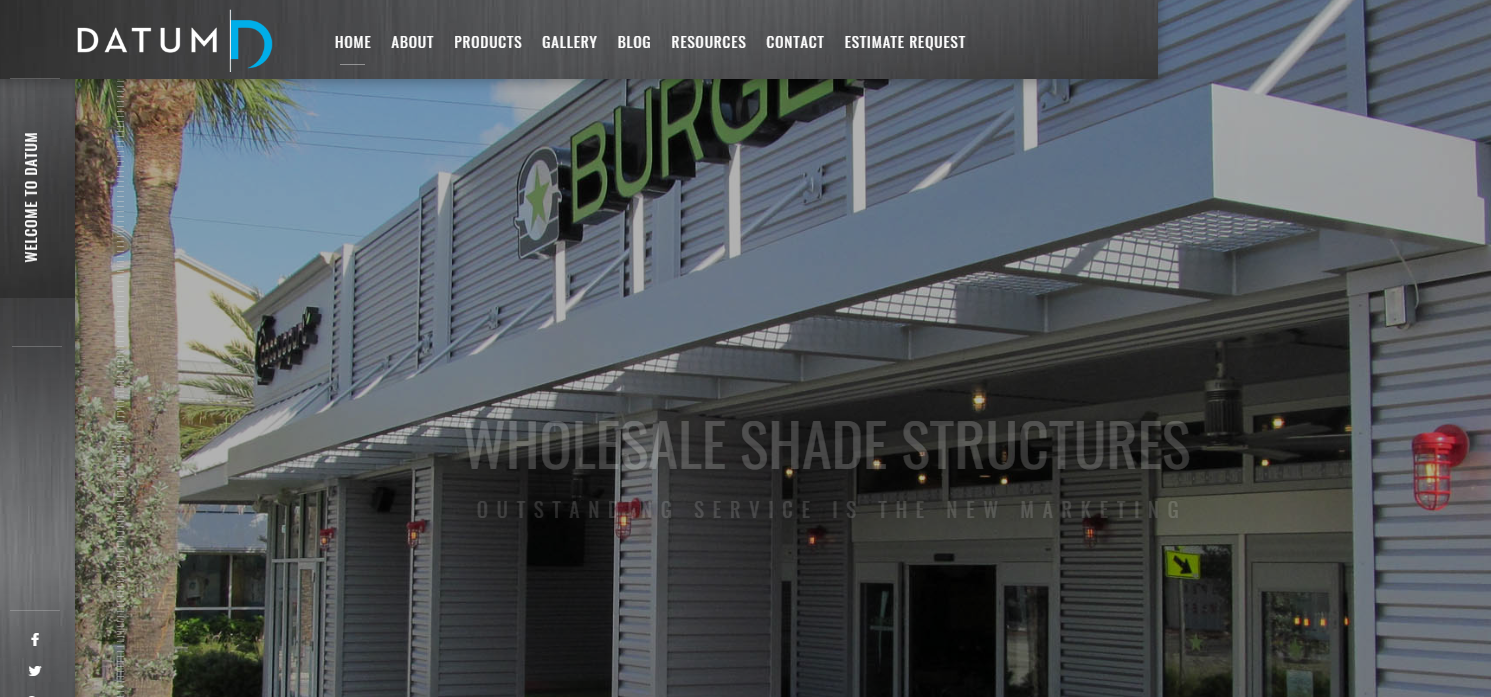 Datum Wholesale Shade Structures Commercial Metal Awnings Metal Canopies