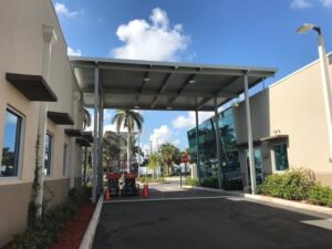 Metal Canopy Ideas for Alabama Businesses: Door Canopies, Walkway Covers, and More!